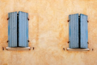 old house windows detail Rimini Italy