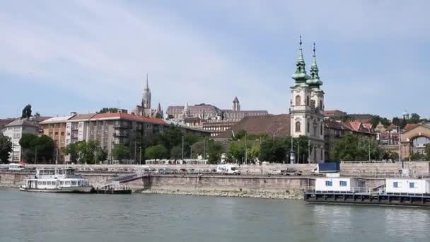 Duna folyó budapesti utca-és városrészlet