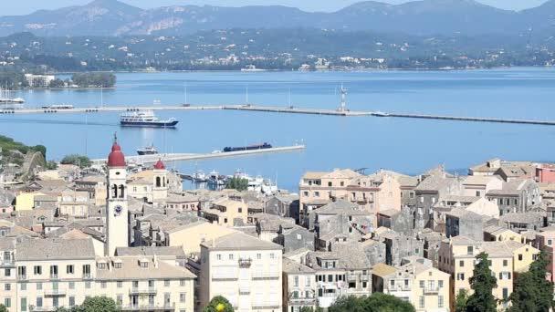 Altstadt Kerkyra und Hafen Korfu Griechenland