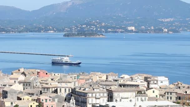 ferry boat Kerkyra Corfu island Greece