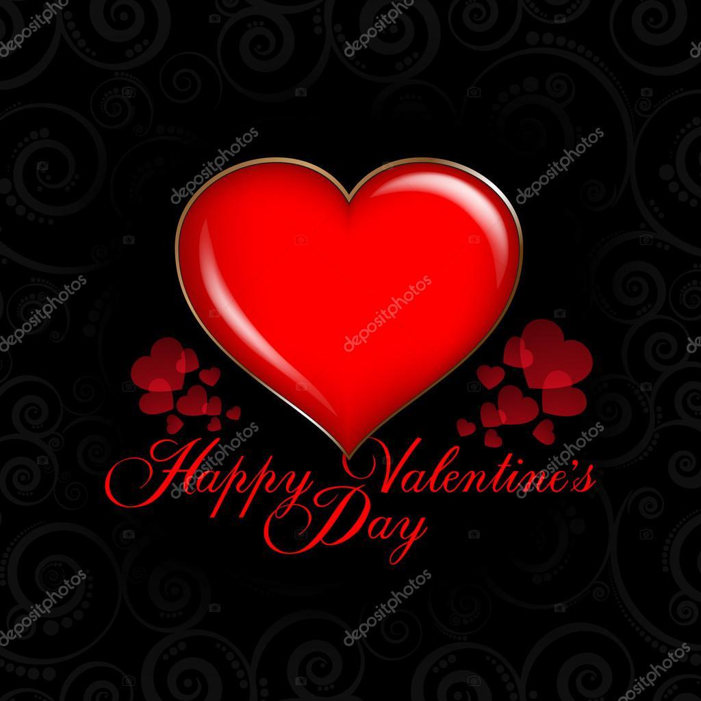 Valentinstag-Karte - Hintergrund-Vorlage — Stockvektor © digieye ...