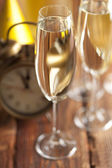 Silvestr - sklenice šampaňského
