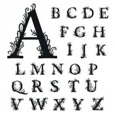Set of alphabet