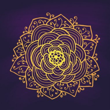 Abstract Gold Rose