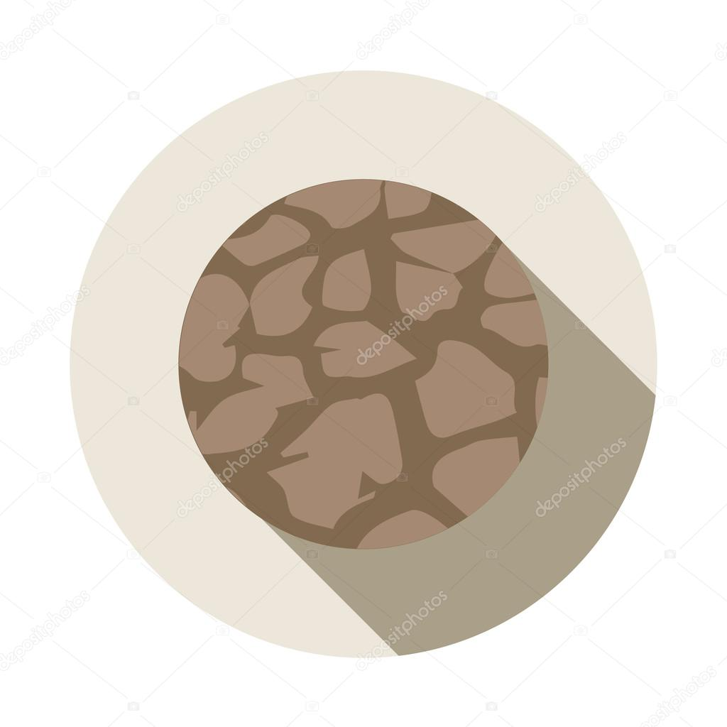 Soil erosion icon