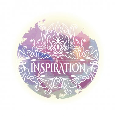 Inspiration lettering on watercolor