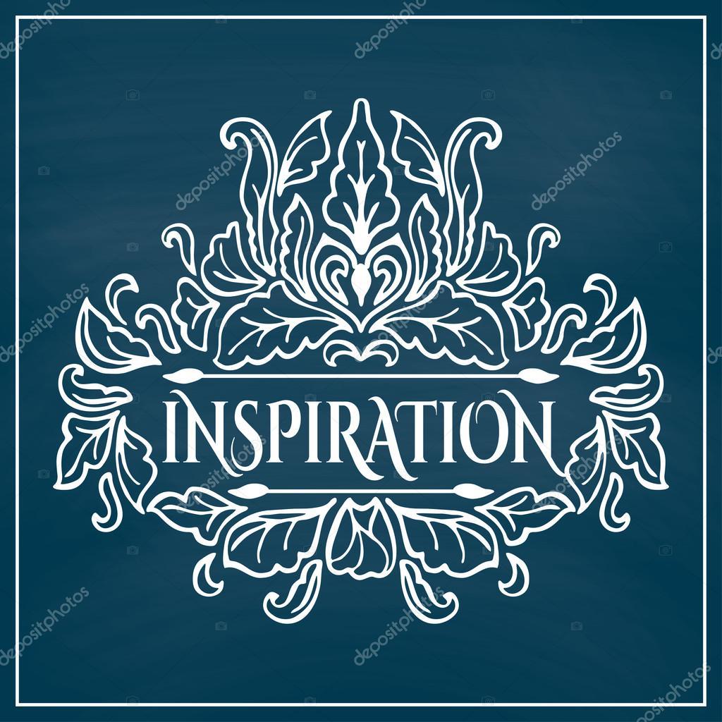 Inspiration-Schriftzug im Rahmen — Stockvektor © OlleVita #65155327