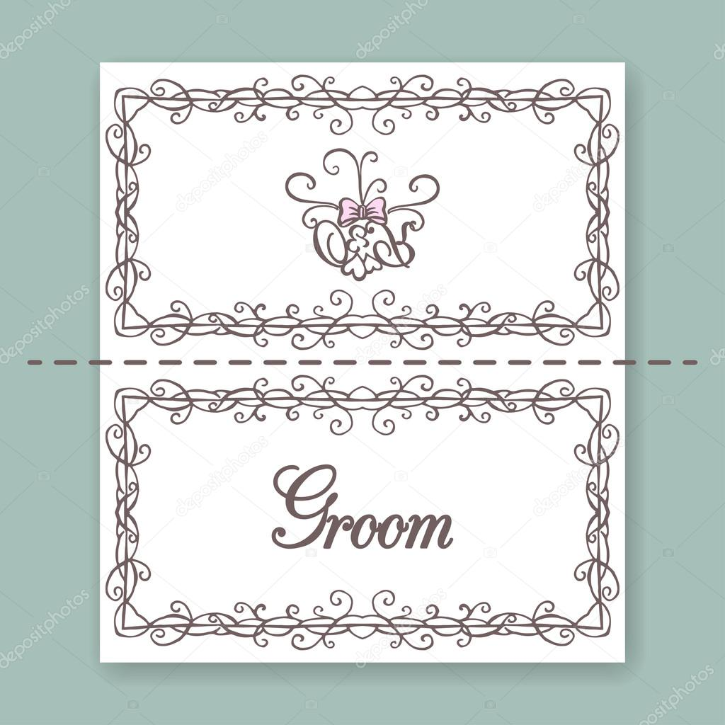 Plantilla de diseño de tarjeta de nombre — Vector de stock ...