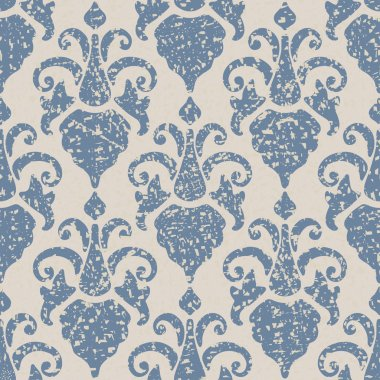 Seamless background with vintage floral pattern.