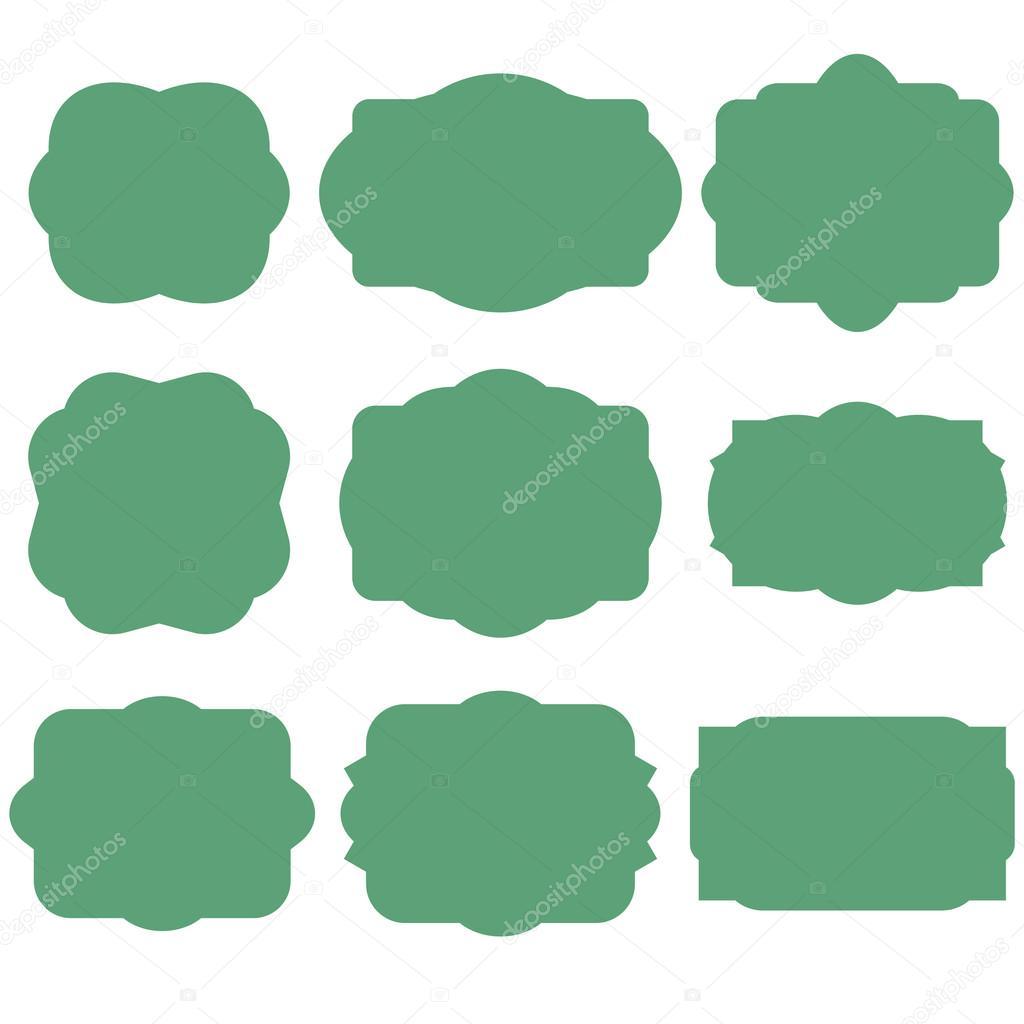 Marcos verdes retro — Vector de stock © OlleVita #73292315