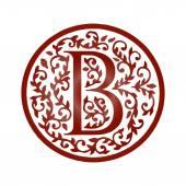 Fotografie B letter floral font