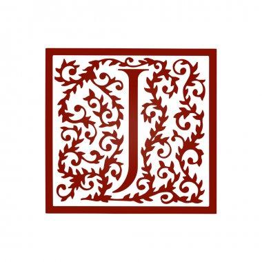 J letter floral font