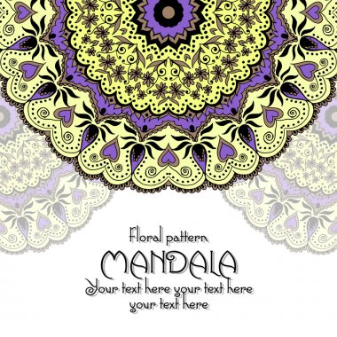 Mandala pattern design template