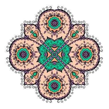 Mandala pattern design template.