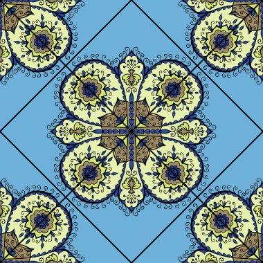 Isolated mandala pattern.