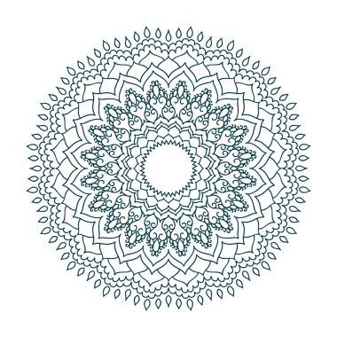 black ethnic mandala pattern