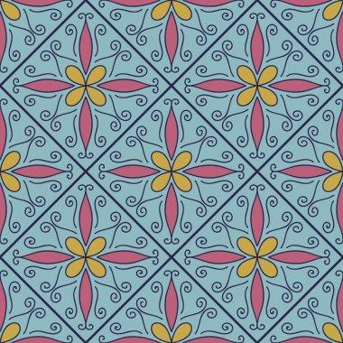 """Картина, постер, плакат, фотообои """"красочные украшения марокканской плитки """", артикул 97383530"""