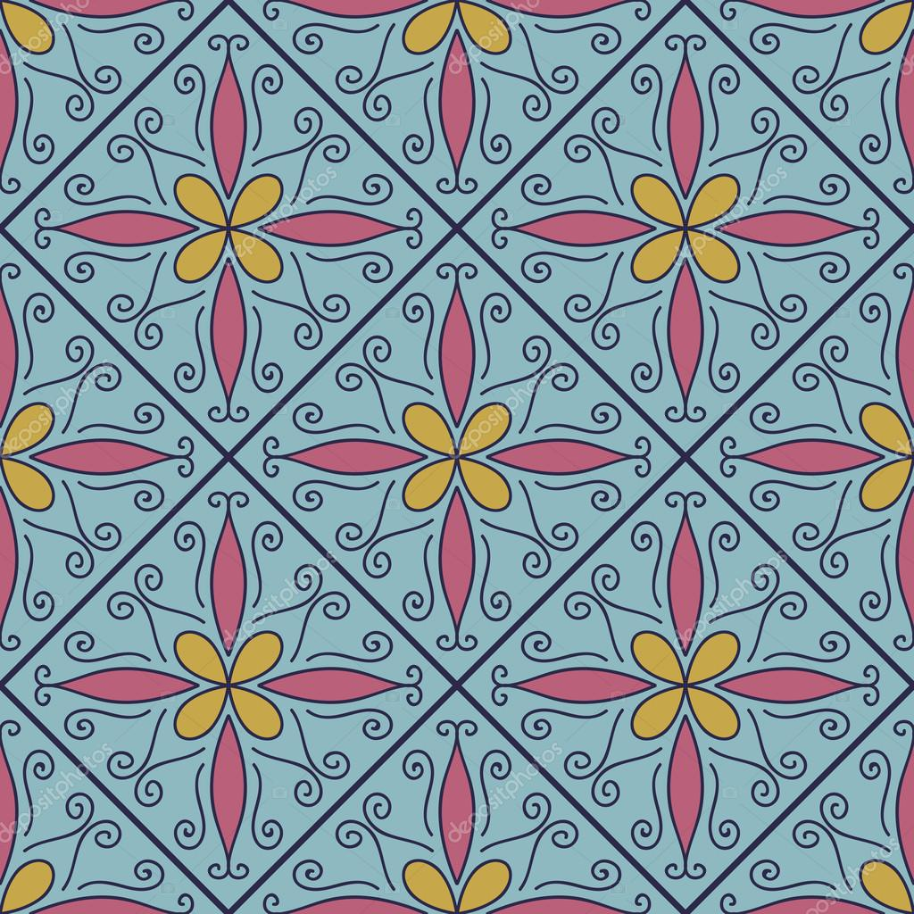 Colorful Moroccan tiles ornaments