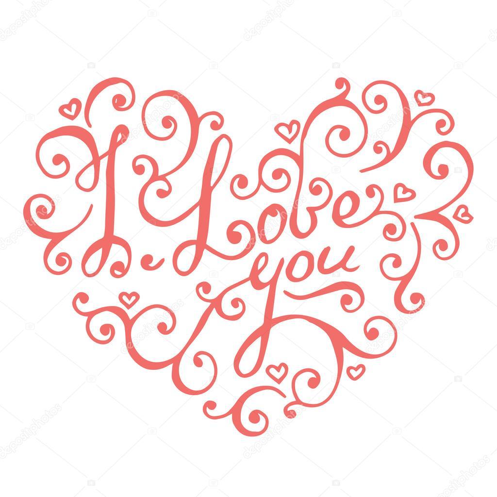 Baru 43+ Kaligrafi I Love You, Gambar Ilove You
