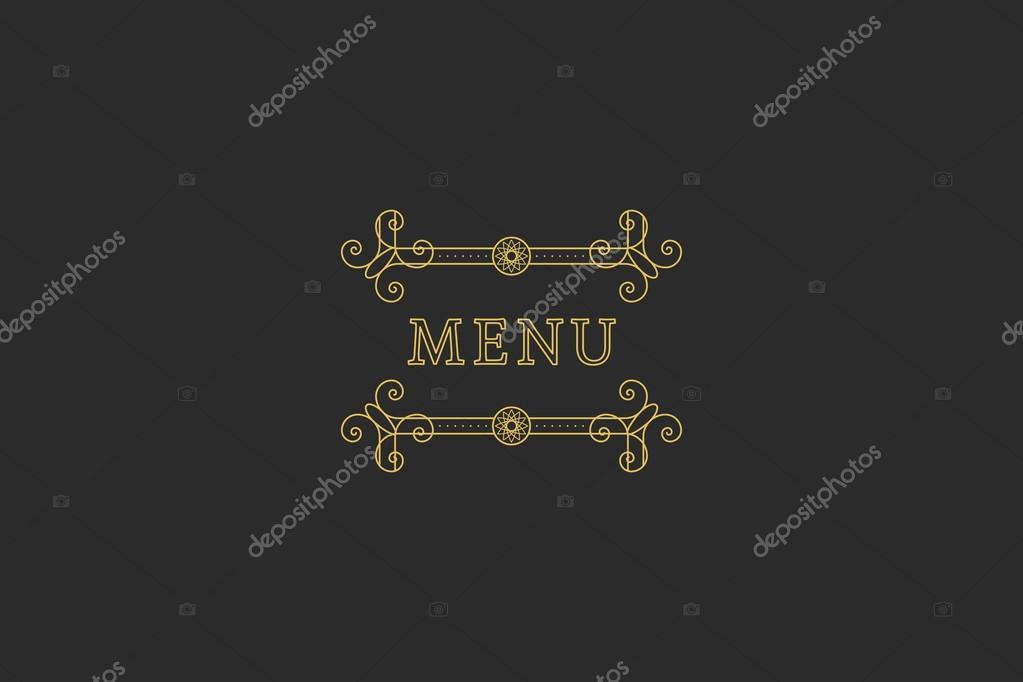 Restaurant-Menü-Überschrift — Stockvektor © Roman_Volkov #113773544