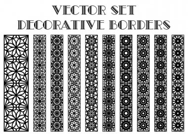 Design elements and page decoration. Vector borders set stock vector