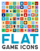 Fotografie Vector flat game icons