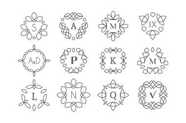 Line art logo templates