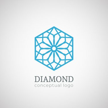 Diamond logo isolated on white illustration.