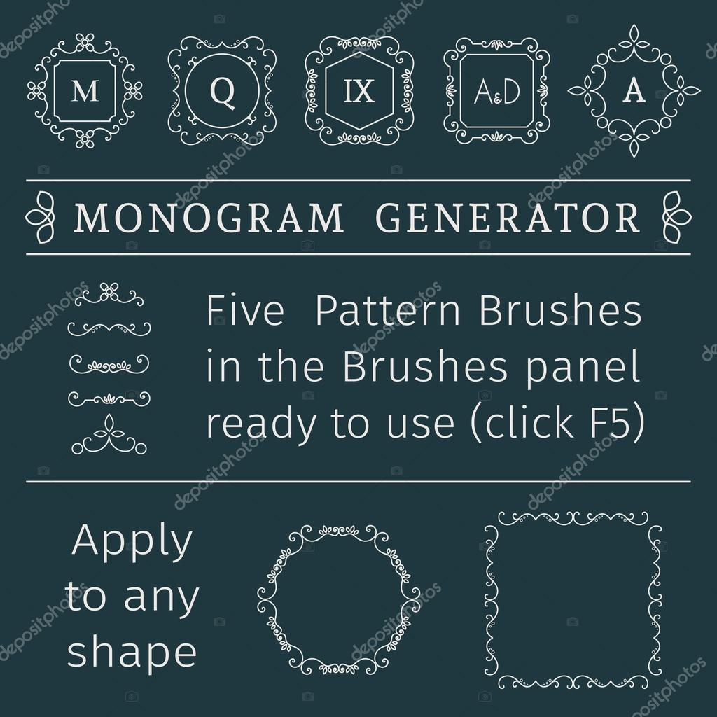 monogram fonts generator