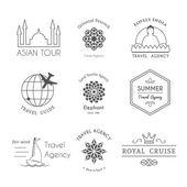 Fotografie Vector asian logo templates