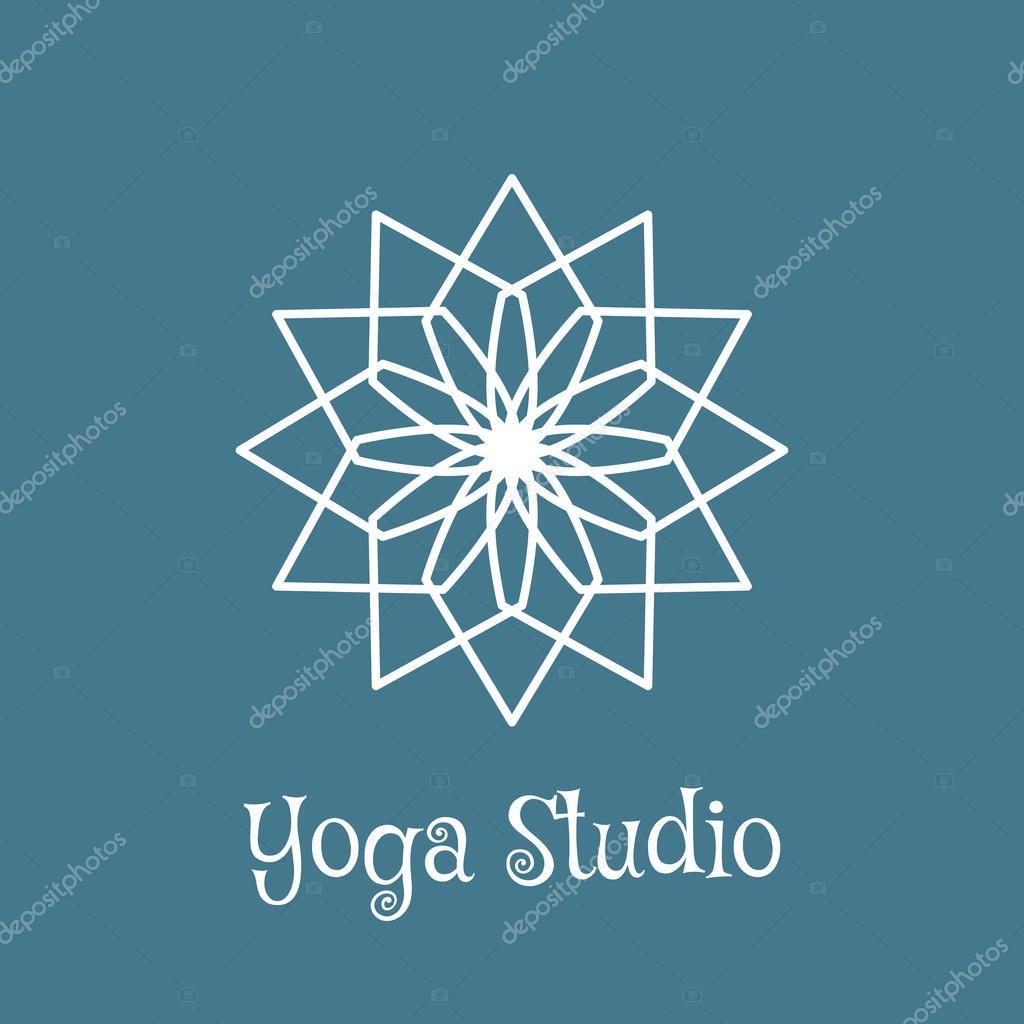 plantilla de yoga studio vector logo — Vector de stock ...