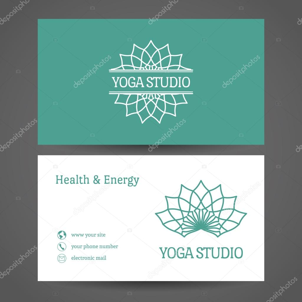 Business card template stock vector romanvolkov 75632675 yoga ornamental business card vector editable template include front and back side for relax or spa center yoga studio healthcare and traditional flashek Choice Image
