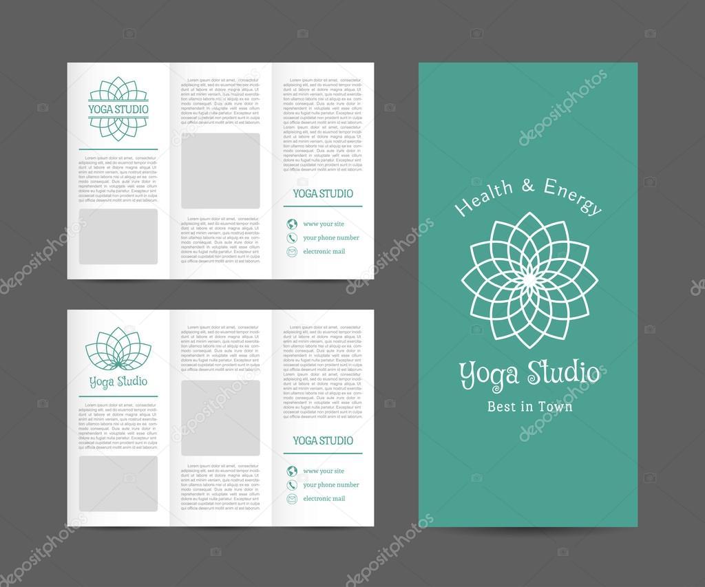 Yoga Studio-Vektor-Broschüre-Vorlage — Stockvektor © Roman_Volkov ...