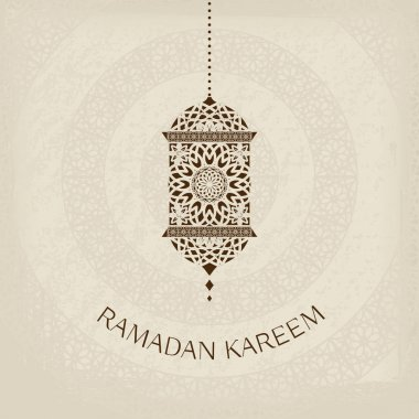 Ramadan Kareem vector greeting card