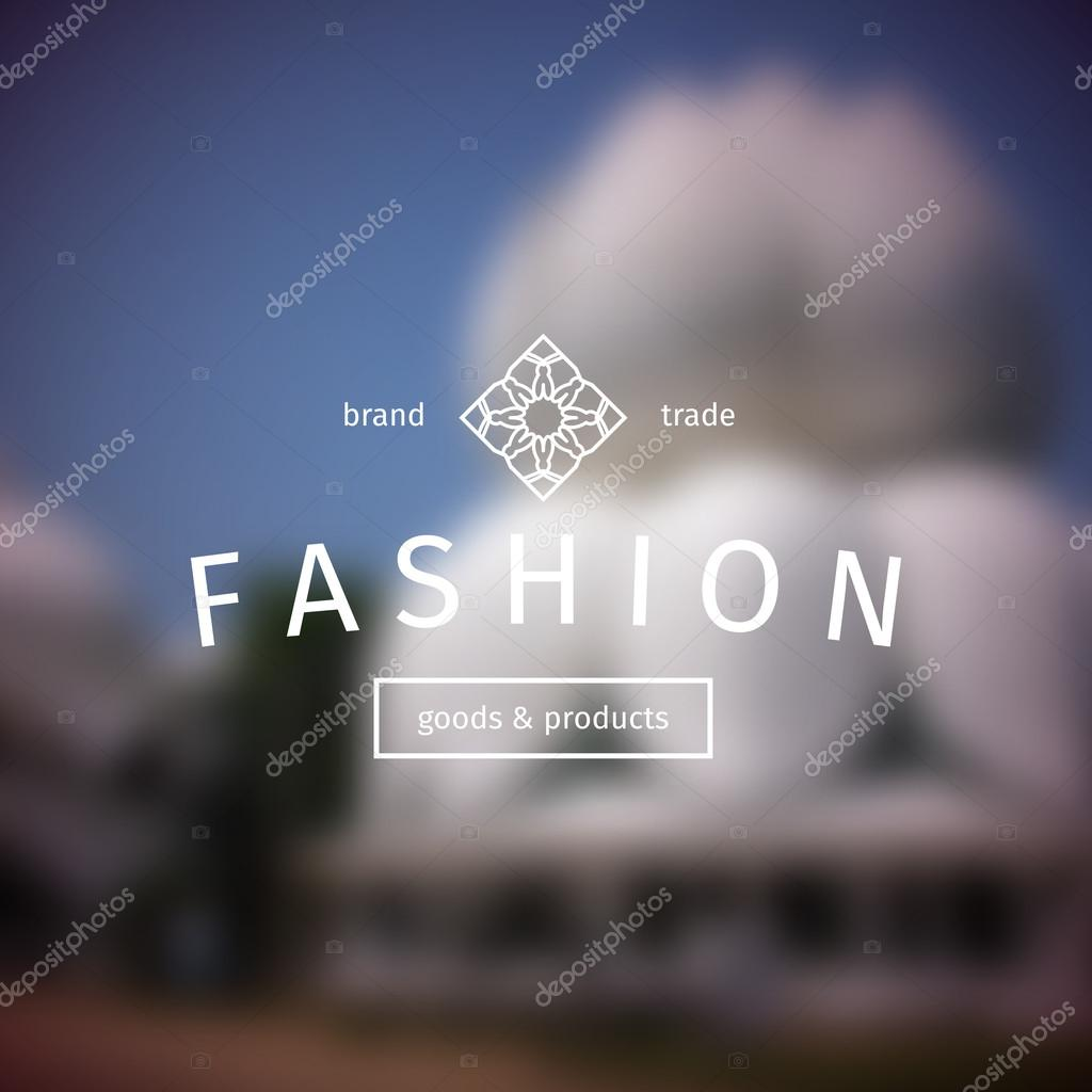 Vector asian logo template