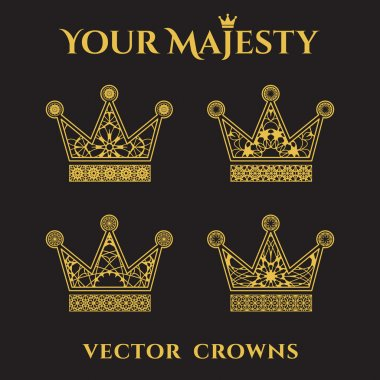 Vector Ornamental Crowns
