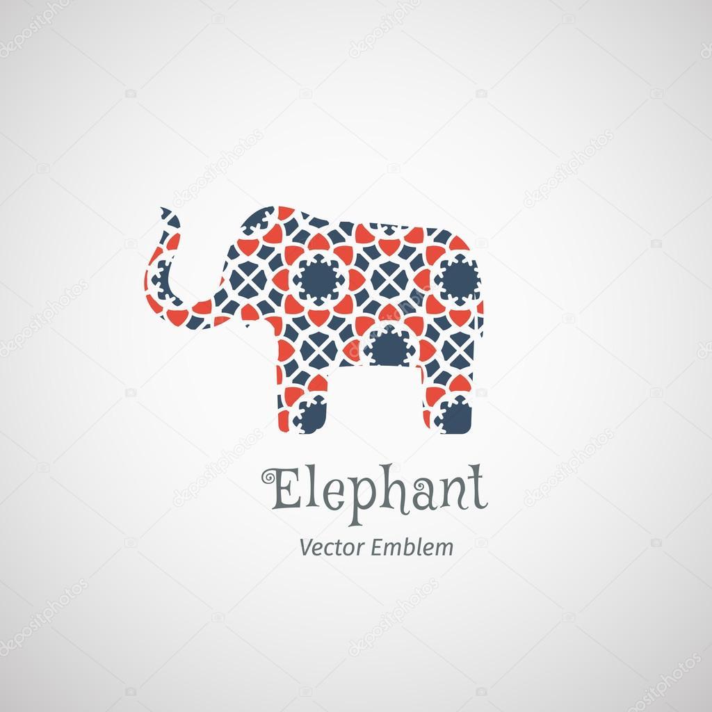 Vector Ornamental Elephant Logo