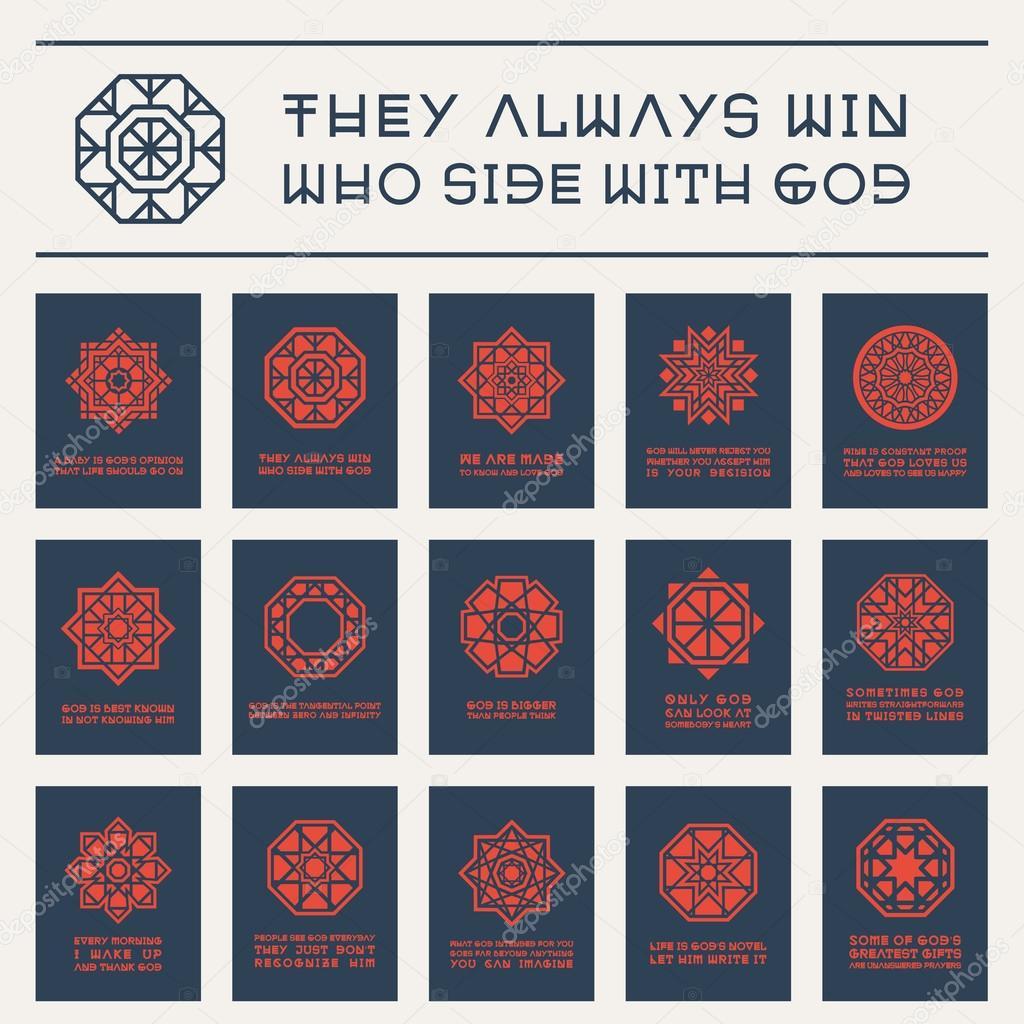 Azjatycki Religijnych Plakaty Z Cytaty Buddy Grafika Wektorowa