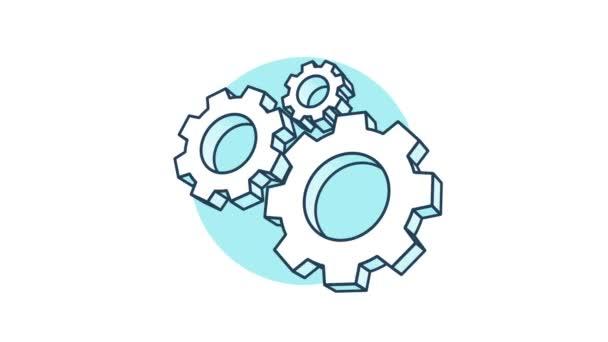 Cogwheels rotation 360 degrees
