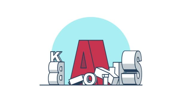 Abstraktní písmena rotace 360 stupňů