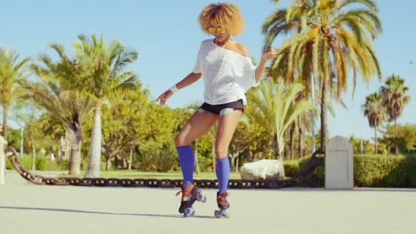 Girl Dancing on Roller Skates