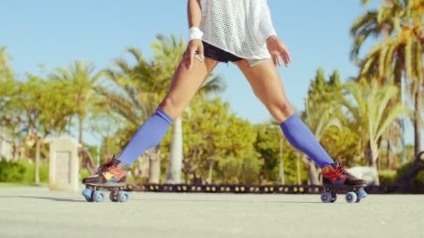Girl Doing Splits on Roller Skates