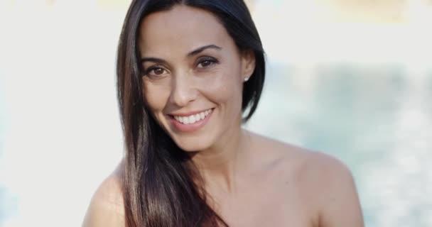woman with gorgeous smile