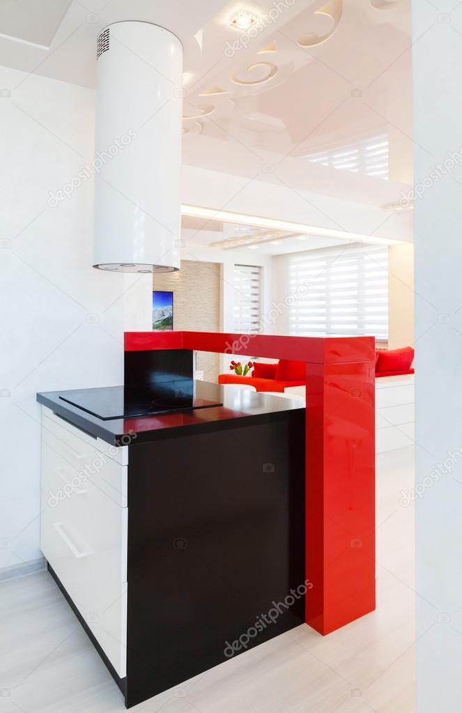 moderne Küche Design und weiße Wand — Stockfoto © Petkov #72234169