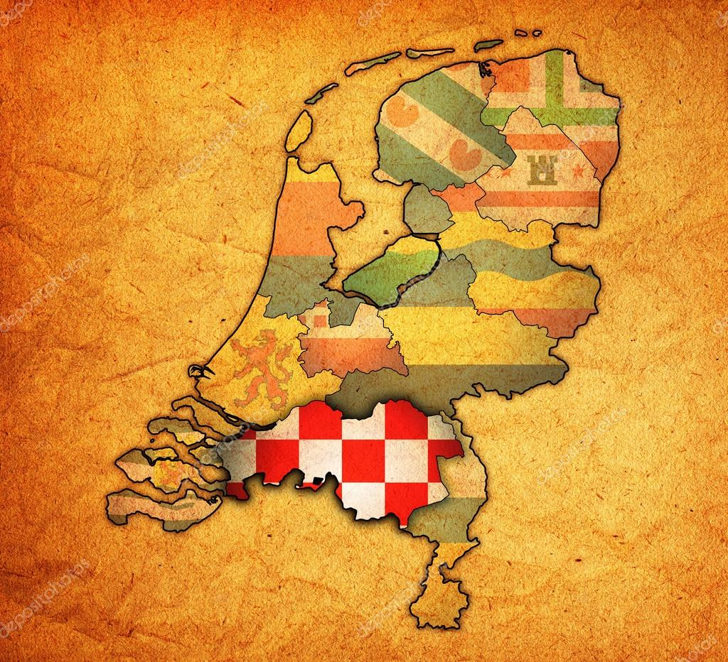 north brabant on map of provinces of netherlands Stock Photo