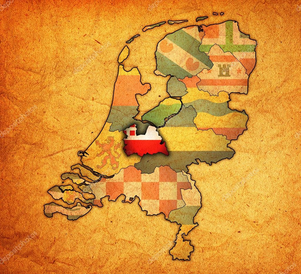 utrecht on map of provinces of netherlands Stock Photo michal812