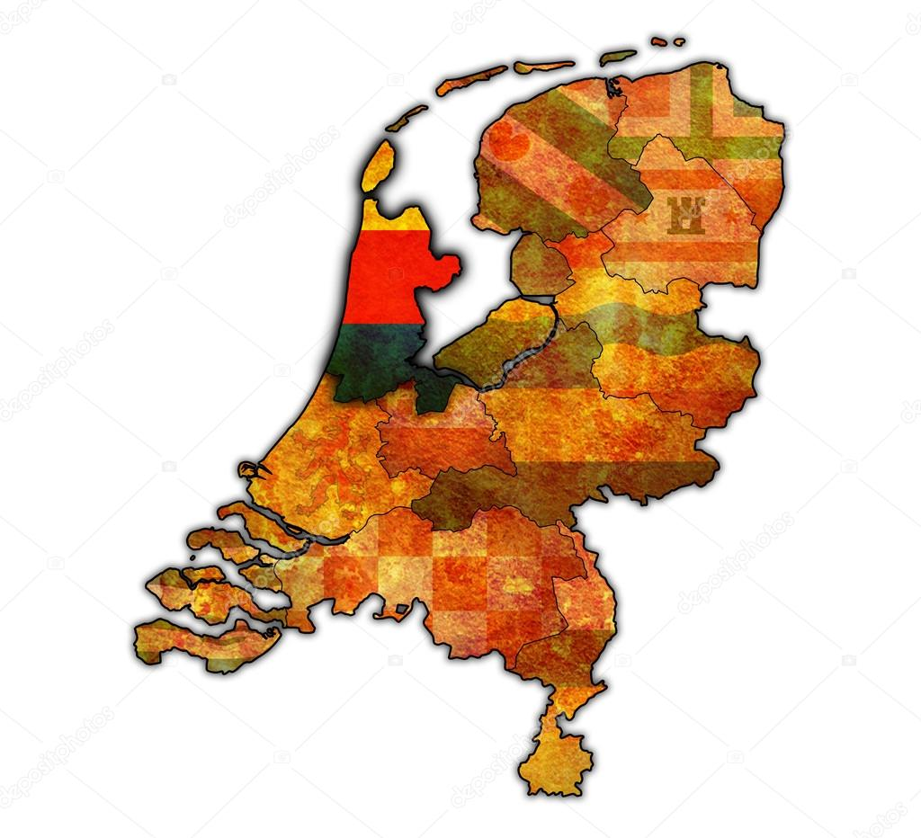 north holland on map of provinces of netherlands Stock Photo