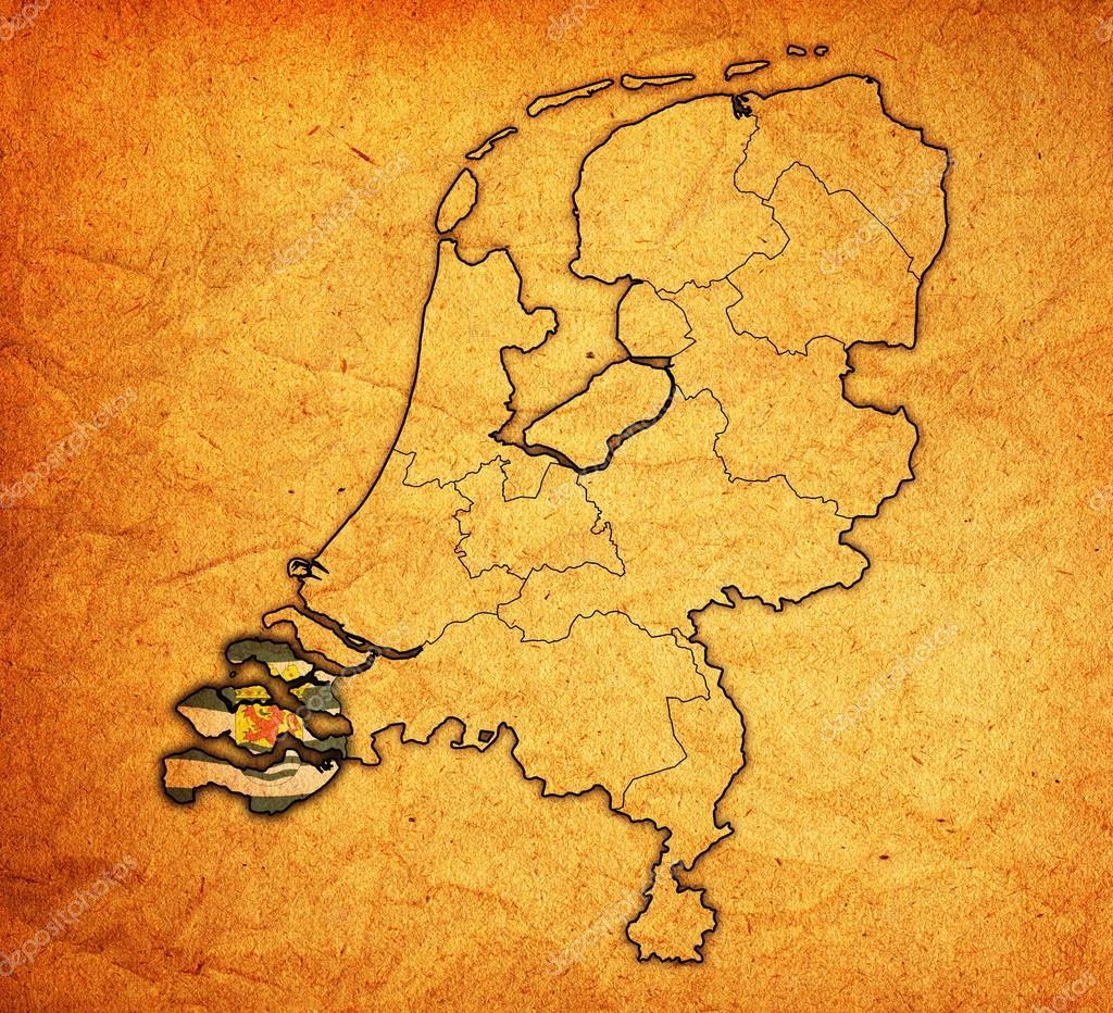 zeeland on map of provinces of netherlands Stock Photo michal812