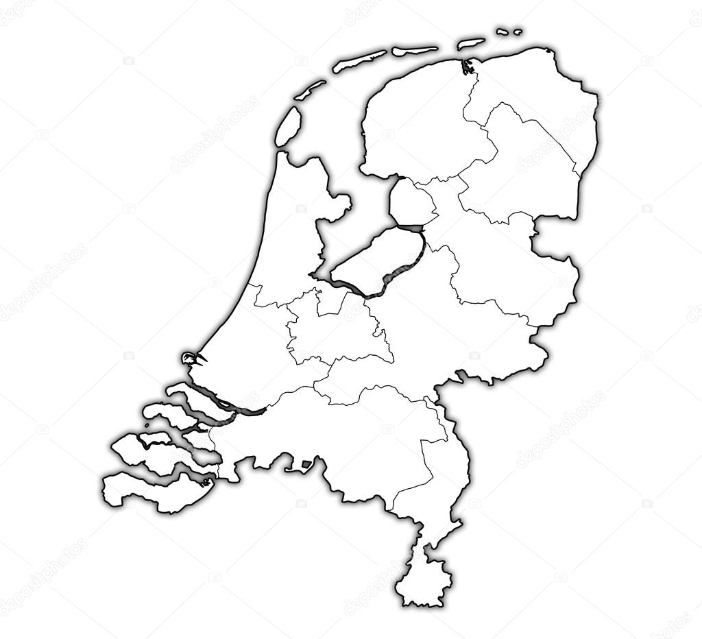 map of provinces of netherlands stock photo 169 michal812