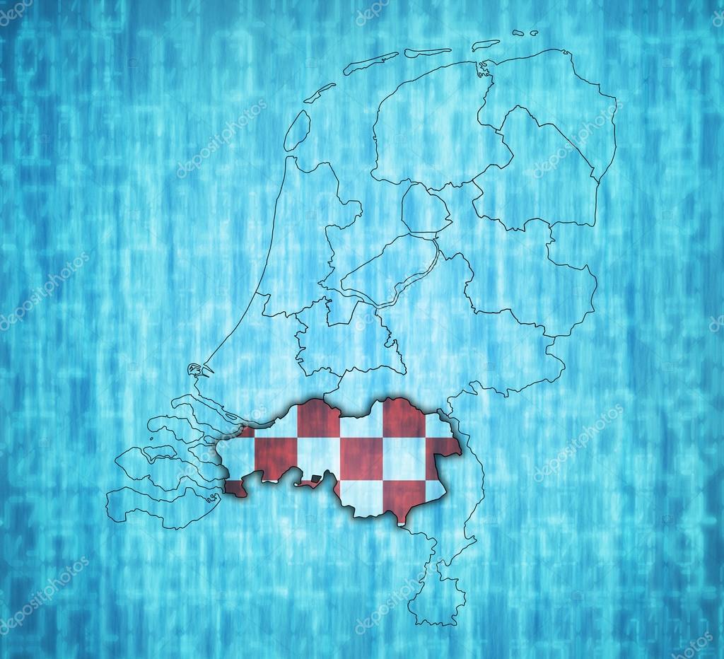 オランダの地域のマップの北ブラ...